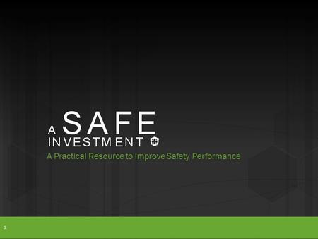 A Practical Resource to Improve Safety Performance 1.