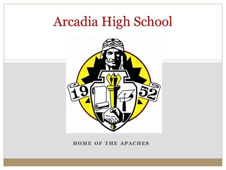 HOME OF THE APACHES Arcadia High School. District Enrollment by Ethnicity.