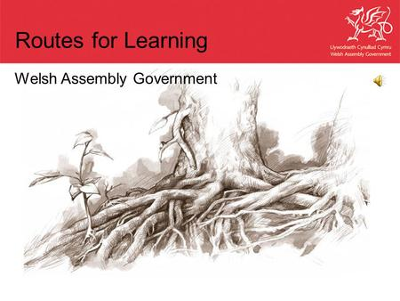 Welsh Assembly Government Routes for Learning. Outline Context in Wales Why was Routes for Learning developed? Why was a different assessment model used.