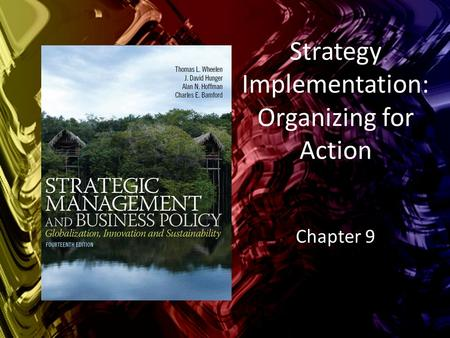 Strategy Implementation: Organizing for Action