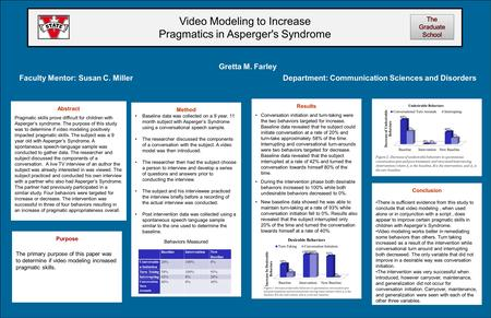 Conclusion There is sufficient evidence from this study to conclude that video modeling, when used alone or in conjunction with a script, does appear to.