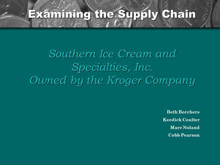 examining supply chain management in gianis ice cream Examining the trade-offs inherent in  (such as coleslaw and ice cream),  the internet of things' potential to recast supply chain management .
