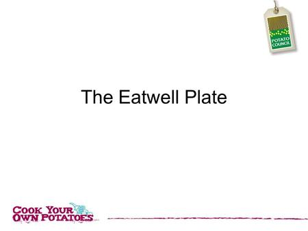 The Eatwell Plate. In order to keep healthy it is important to eat a balanced diet. The Eatwell Plate can help us understand how much we should eat of.