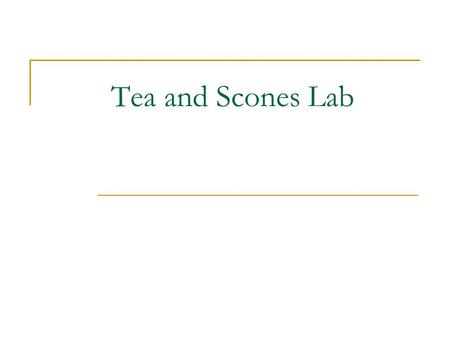 Tea and Scones Lab. Tea and Scones Service Properly Set Table.