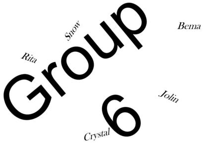 Group 6 Jolin Rita Snow Crystal Bema. What's this…….. Do you like it? Come to our ice cream store.