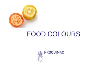 FOOD COLOURS.