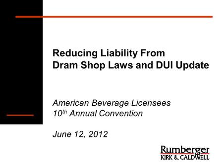 an analysis of the dram shop liability And most states recognize dram shop liability to at least some degree (laws that   in another analysis8 of overservice laws and their enforcement, the authors.