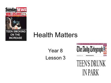 Health Matters Year 8 Lesson 3. Alcohol adverts Binge drinking: Boys night out  49X7B53o&feature=related