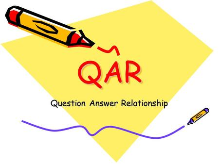 QARQAR Question Answer Relationship. It's Hot! It's hot! I can't get cool, I've drunk a quart of lemonade. I think I'll take my shoes off And sit around.