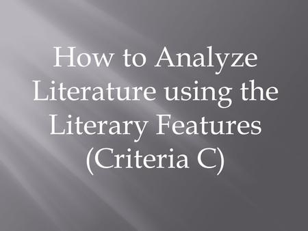How to Analyze Poetry