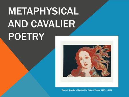 Metaphysical and Cavalier Poetry