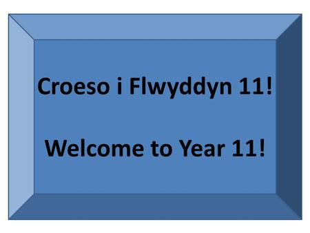 Croeso i Flwyddyn 11! Welcome to Year 11!. Amcan Heddiw To get ourselves set up for the Literature course.