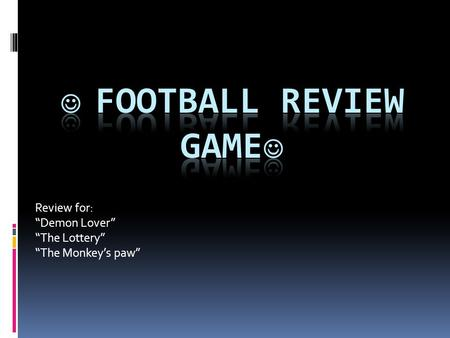  Football Review Game