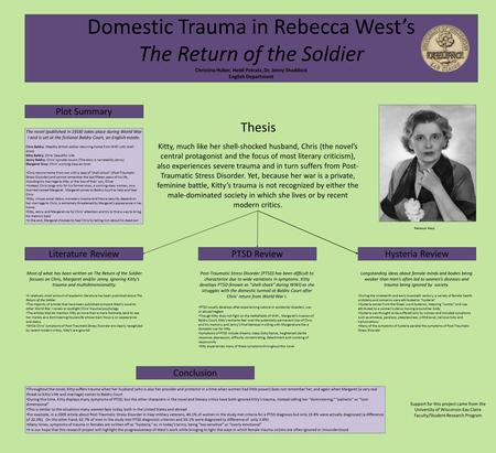 Domestic Trauma in Rebecca West's The Return of the Soldier Christina Huber, Heidi Potratz, Dr. Jenny Shaddock English Department Plot Summary Thesis Kitty,