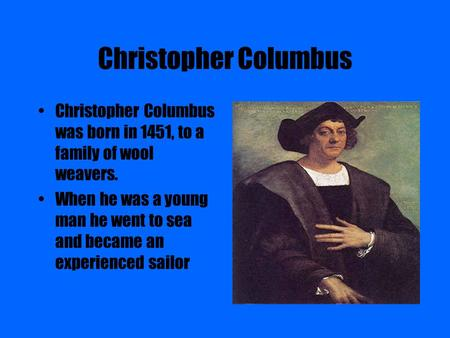 an analysis of the life of christopher columbus