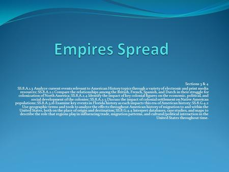 Empires Spread Sections 3 & 4
