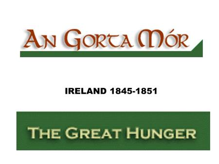 "IRELAND 1845-1851. Mother IRELAND ""The Great Irish Hunger epoch changed the face and the heart of Ireland. The Famine--yielded like the ice of the Northern."