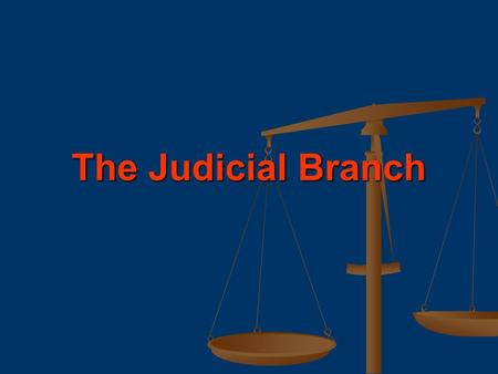 The Judicial Branch. Court Systems & Jurisdictions.