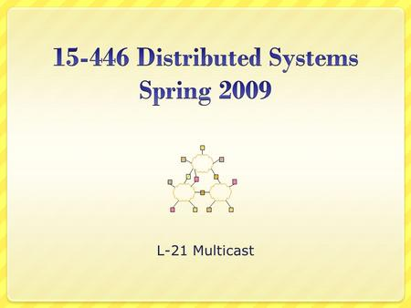 L-21 Multicast. L -15; 10-31-02© Srinivasan Seshan, 20022 Overview What/Why Multicast IP Multicast Service Basics Multicast Routing Basics DVMRP Overlay.