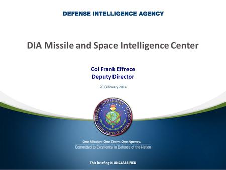 DIA Missile and Space Intelligence Center
