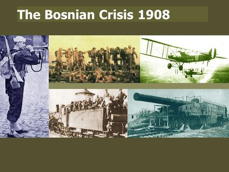 The Bosnian Crisis 1908. THE BALKANS  The Balkans is the name given to a large area in South-East Europe.  As this map shows, it contains a complex.