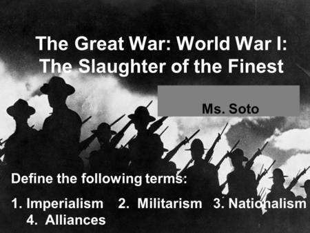 World War 1 Essay Imperialism – 229914