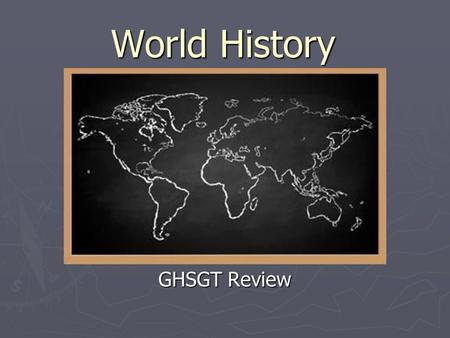 World History GHSGT Review. SSWH9: The student will analyze change and continuity <strong>in</strong> the Renaissance and Reformation.
