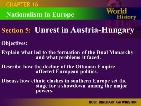 Section 5: Unrest in Austria-Hungary