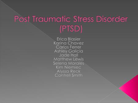 post traumatic stress due to abusive relationship
