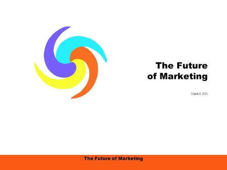 The Future of Marketing March 8, 2001. The Future of Marketing, 3/8/01, page 2 Agenda Change Happens… I.Embracing the Future/Marketing Assumptions A.The.