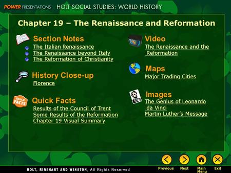 A summary of rennaissance humanism and reformation in europe