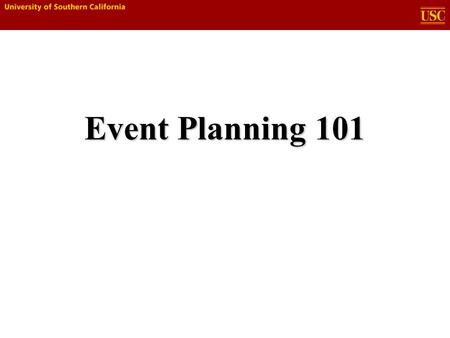 Event Planning 101. 2 Overview  Purpose  Goals  The Creative Process  Plan  Budget  Resources  Review  Exercise.