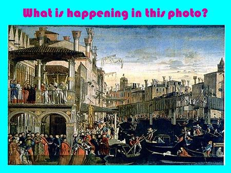 What is happening in this photo?. Commerce and Trade in Early Modern Europe and Asia.