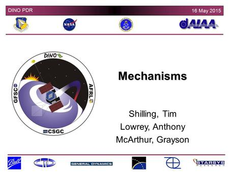 Mechanisms Shilling, Tim Lowrey, Anthony McArthur, Grayson.