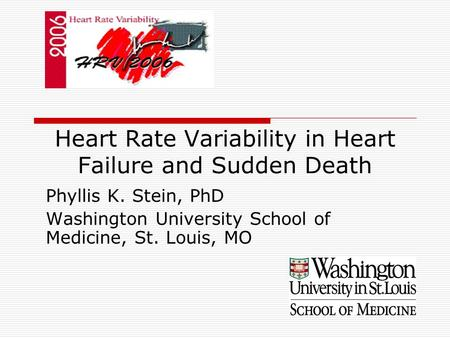 Heart Rate Variability in Heart Failure and Sudden Death