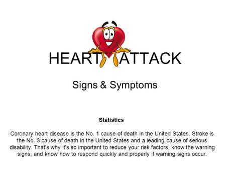 HEART ATTACK Signs & Symptoms Statistics