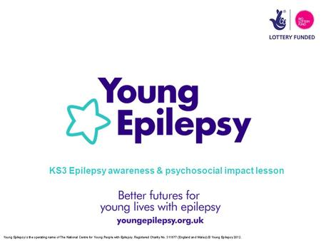 KS3 Epilepsy awareness & psychosocial impact lesson.