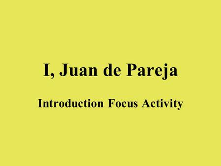 Introduction Focus Activity