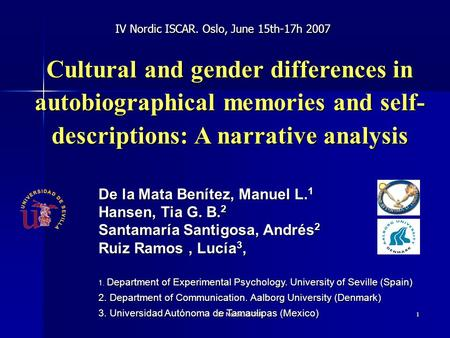 gender differences and autobiographical memories Gender differences in autobiographical memory: developmental and  methodological considerations a grysman, ja hudson developmental review  33 (3),.