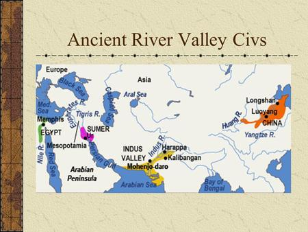 Ancient River Valley Civs ANCIENT MESOPOTAMIA Oldest known civilization Cradle of Human Civilization Old Testament Nebuchadnezzar Ziggurat (right) Hanging.