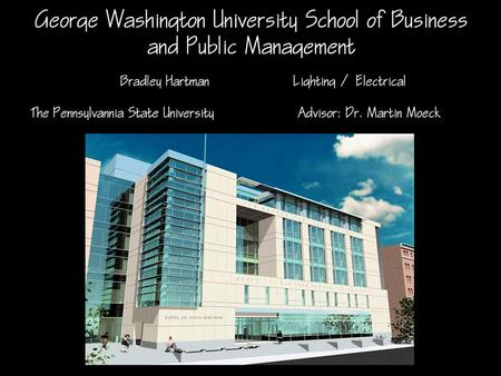 Building Information Located in Washington DC on the George Washington University Campus Addition to existing Business School 170,000 Sq Ft 6 floors above.