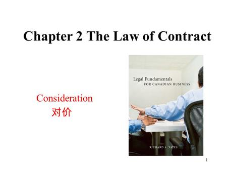 Chapter 2 The Law of Contract