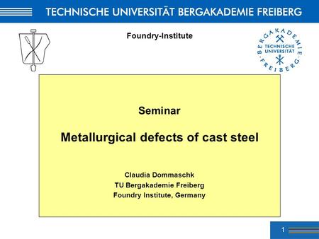 Metallurgical defects of cast steel