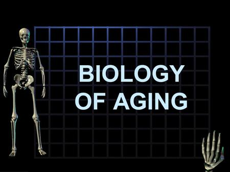 BIOLOGY OF AGING 1. Biological Aging Biologist & gerontologist used concept of senescence to explain biological aging Senescence or normal aging refers.