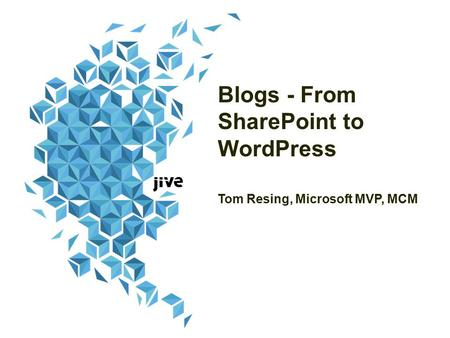 Blogs - From SharePoint to WordPress Tom Resing, Microsoft MVP, MCM.