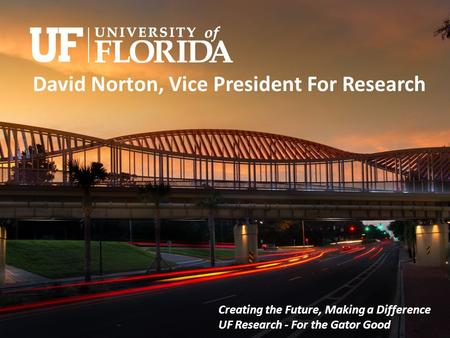 David Norton, Vice President For Research