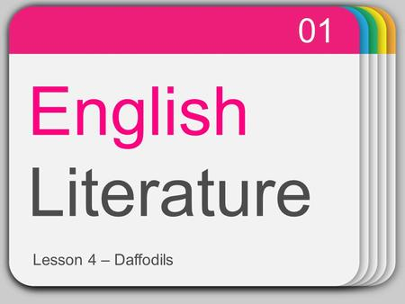 WINTER Template English Literature 01 Lesson 4 – Daffodils.
