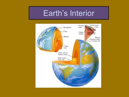 Earth's Interior. The Zones of Earth's Interior Much of our knowledge of the Earth's interior comes from the study of earthquake (seismic) waves. Seismic.