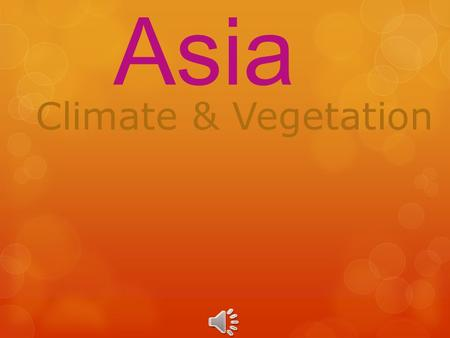 South Asia Climate & Vegetation.