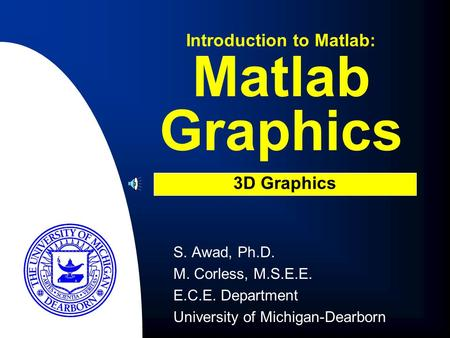 Introduction to Matlab: